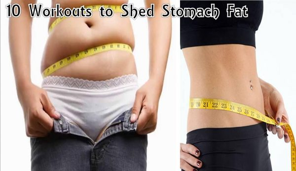 Home fitness workouts to shed stomach fat
