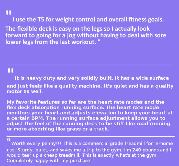 life fitness t5 reviews
