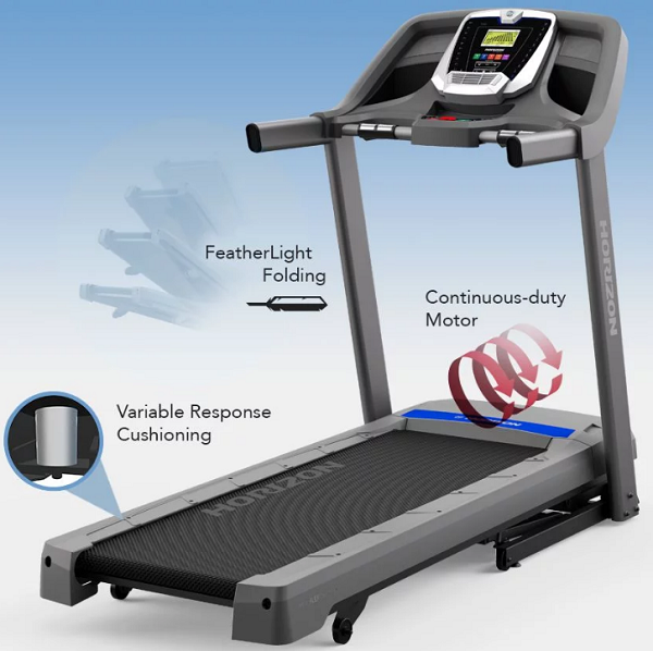 horizon fitness t101-04 budget treadmill